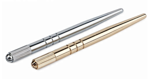Shiny golden and silver Microblading Pen