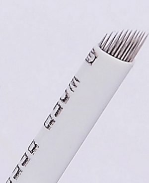 100PCS 3D Eyebrow Tattoo Needle Microblades 14PINS