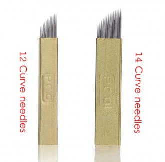 100PCS PCD 3D Eyebrow Embroidery Microblades 14PINS