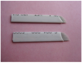 100pcs 3D Eyebrow Microblades 21 PINS curved flexible
