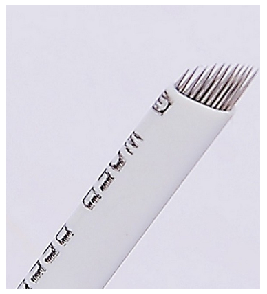 100pcs 3D Eyebrow Tattoo Needle Microblades 17PINS