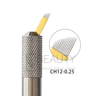 3D Eyebrow embroidery Microblades 12P Hard 0.25mm