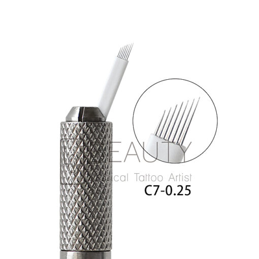 3D Eyebrow Tattoo Needle Microblades 0.25 7P Curved flexi