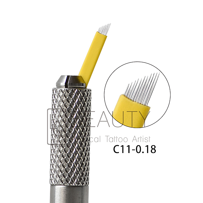 0.18mm 11pins microblading needle for 3D eyebrow tattoo