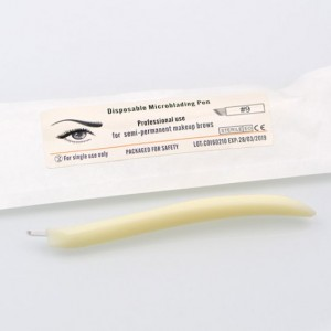MicroStroker disposable Microblade pen with 9# for 3-D eyebrow