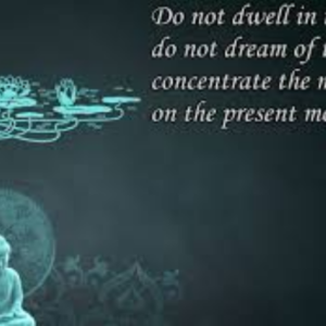 Do not dwell in the past do not dream of thefuture Concentrate the mind on the present moment