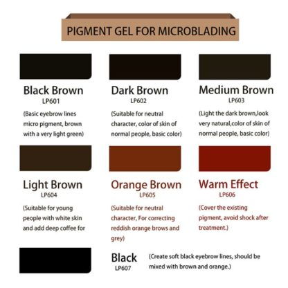 5 bottles Lovbeauty pigment Gel for microblading