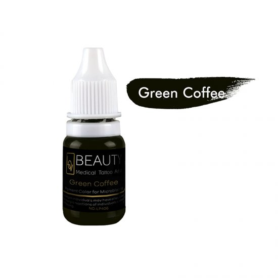 Medical Grade micro cream pigment for eyebrow Green Coffee