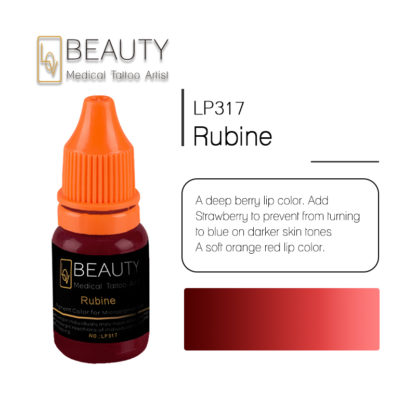 Microblading pigment for permanent makeup Rubine