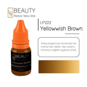 Microblading pigment for permanent makeup Yellowwish Brown