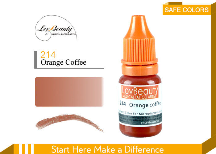 Eyeliner Orange Coffee Microblading Pigments Organic Semi - Cream