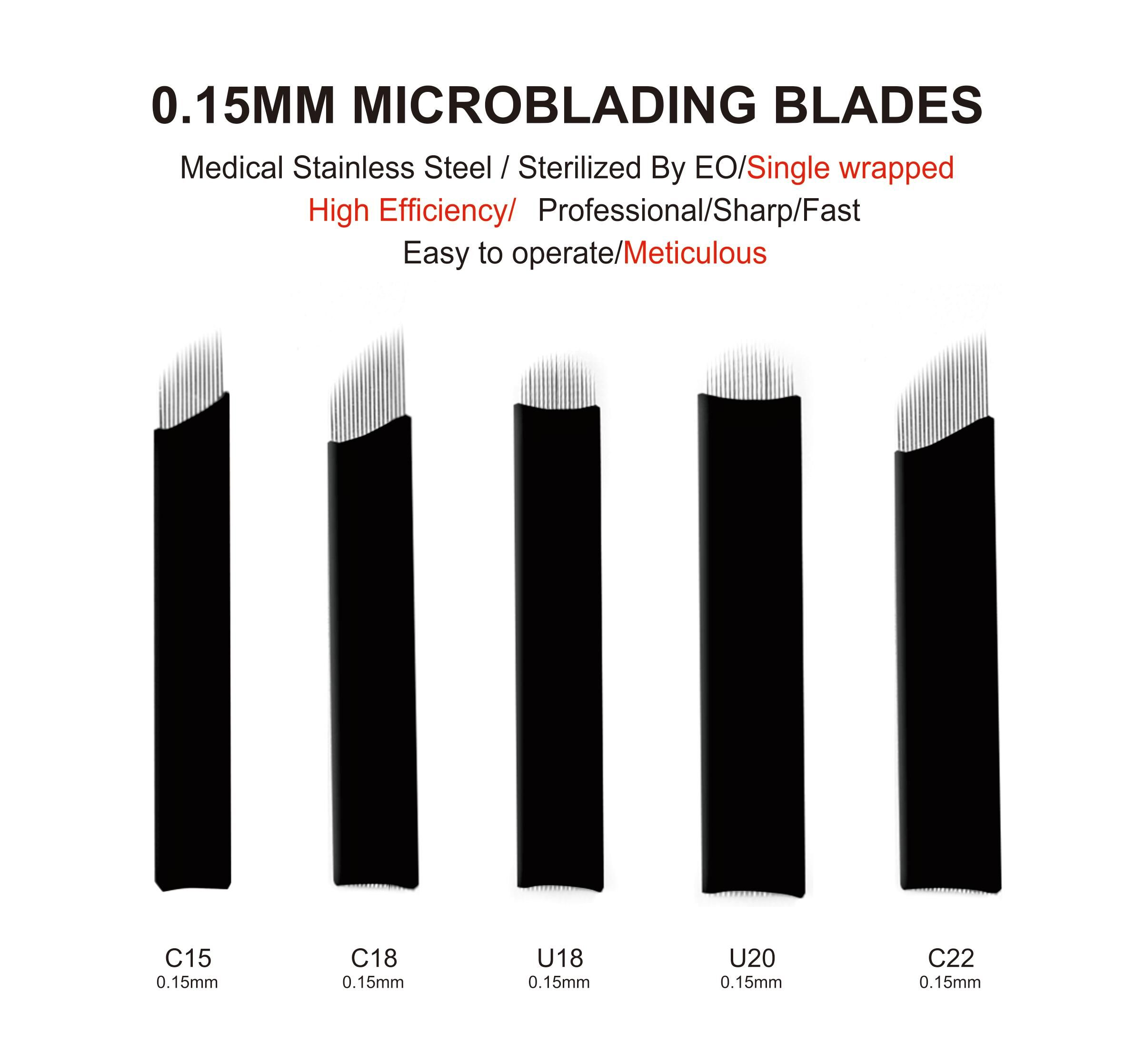 0.15mm Nano Flexi Microblading blades C15 for Eyebrow