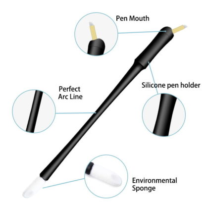 Nano Disposable Microblading pen with Hard C14 blades with brush