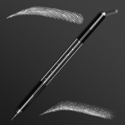 Professional Permanent Makeup Double Heads Black Pearl Microblading Manual Pen