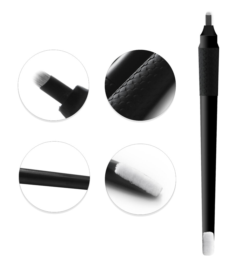 Disposable Microblading Pen with Rubber parts Brush